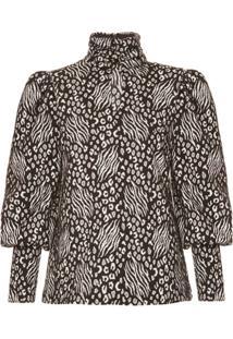 Allmost Vintage Blusa 'Onça Jacquard' Estampada - Animal Print