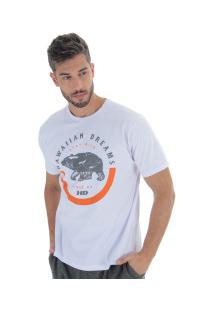 Camiseta Hd Nature Bear - Masculina - Branco