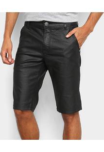 Bermuda Jeans Zune Resinada Masculina - Masculino