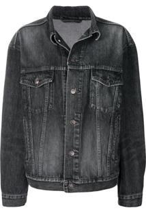 Balenciaga Jaqueta Jeans 'Like A Man' - Preto