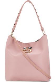 Versace Jeans Couture Bolsa Saco Com Logo - Rosa