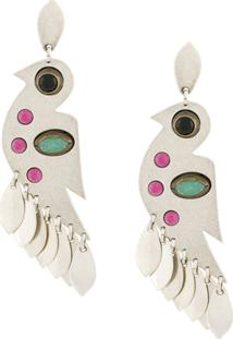 Isabel Marant Birdy Pendant Earrings - Prateado