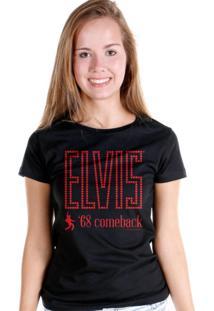 Camiseta Bandup Bandas Elvis Presley 68 Comeback Dancing Black Preto