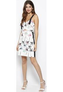 f70d198d0 R$ 130,99. Privalia Vestido Coqueiros Texturizado- Branco & Rosa-  Zincomorena Rosa