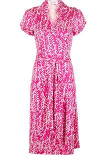 Dvf Diane Von Furstenberg Camisa De Seda Com Amarração Na Cintura - Rosa