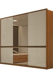 Guarda Roupa Urban New 6 Portas Com Espelho Rovere Naturale/Off White