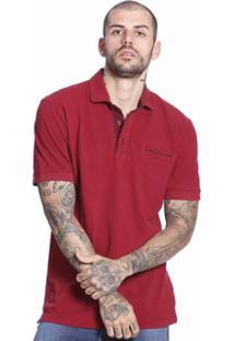 Camiseta Polo Diferenciada Manga Curta Masculina - Masculino