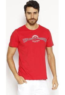 """Camiseta """"Explore Yourself""""- Vermelha & Vinho- Coca-Coca-Cola"""