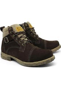 Bota Bell Boots Estilo Vaqueiro Couro Bell Boots Masculina - Masculino-Café