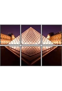 Conjunto Com 6 Quadros Decorativos Louvre Preto
