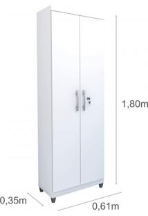 Armário Multiuso 2 Portas Slim Tcil Móveis Branco