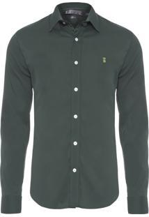 Camisa Masculina Stretch - Verde