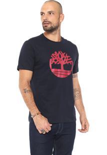 Camiseta Timberland Tree Azul-Marinho