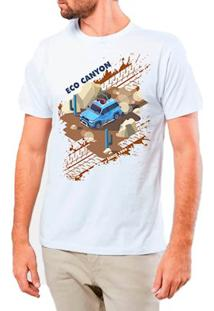 Camiseta Masculina Eco Canyon Car In The Mud Branco