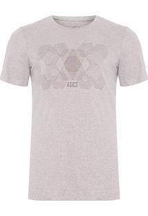 Camiseta Masculina Power Graphic - Cinza