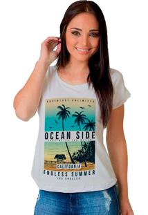 Camiseta Shop225 Ocean Side Branco