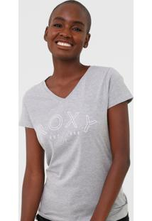 Camiseta Roxy Go With You Cinza - Cinza - Feminino - Dafiti