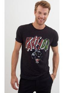 Camiseta John John Rg Party On Malha Preto Masculina Tshirt Rg Party On-Preto-P