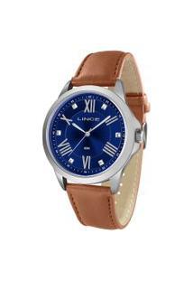 Relógio Analógico Lince Feminino - Lrcj082L D3Mx Prateado