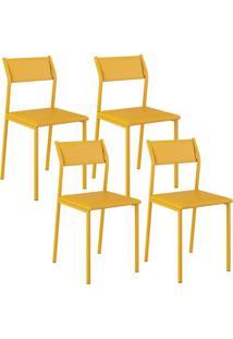 Cadeira 1709 Color Uv 04 Unidades Amarela Carraro