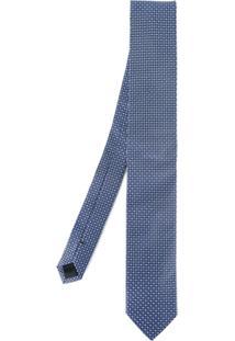 Dolce & Gabbana Gravata De Seda Com Padronagem - Azul