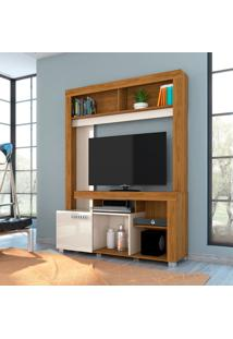 Estante Para Home Theater E Tv Até 42 Polegadas Flávia Naturale E Off White