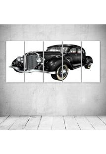 Quadro Decorativo - Retro Car - Composto De 5 Quadros - Multicolorido - Dafiti