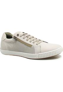 Sapatênis Zariff Shoes Casual Zíper - Masculino-Branco