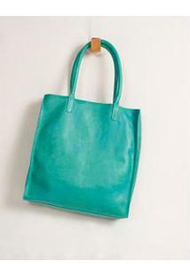 Bolsa Couro Silk Frase - Verde U