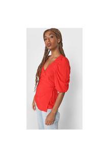 Blusa Colcci Transpassada Vermelha