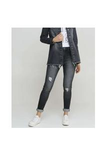 Calça Jeans Feminina Skinny Destroyed Marisa