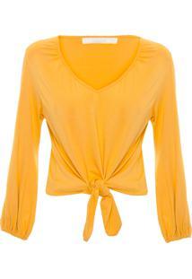 Blusa Feminina Nó - Amarelo