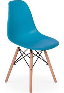 Cadeira Charles Eames Eiffel Dkr Wood - Design - Turquesa