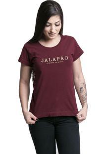 Camiseta Quatorze 08 Destinos Jalapão Bordô