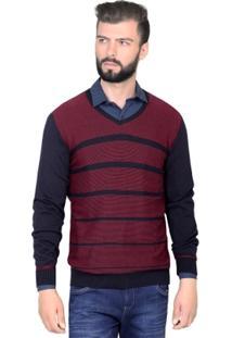 Suéter Katze Vermelho Listrado - Masculino