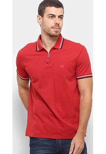 Camisa Polo Cavalera Zíper Masculina - Masculino