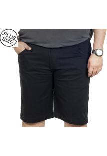 Bermuda Plus Size Sarja Bigshirts - Preta