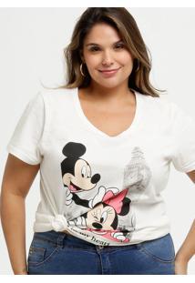 Blusa Feminina Estampa Mickey E Minnie Plus Size Disney