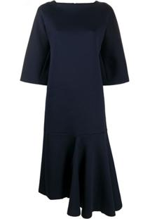 Marni Vestido Midi Assimétrico - Azul