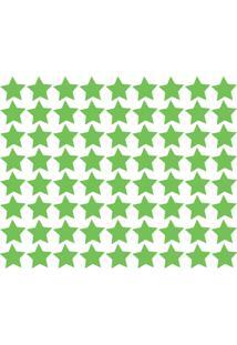 Adesivo De Parede Estrelas Verde Claro 54Un