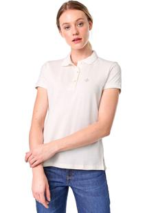 Camisa Polo Dudalina Lisa Off-White