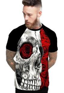 Camiseta Stompy Raglan Modelo 173 Masculina - Masculino-Preto