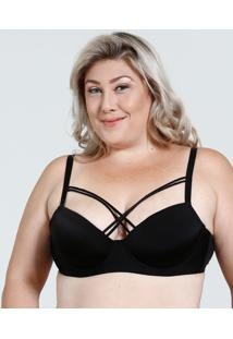 Sutiã Feminino Plus Size Com Base Tiras Strappy Marisa