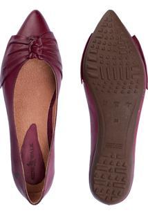 Sapatilha Bico Fino Side Walk Sapato Cristina Roxo