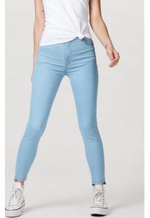 Calça Jeans Feminina Sculpted Cigarrete Com Barra Desfiada