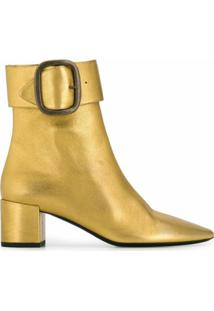 Saint Laurent Ankle Boot 'Joplin' 50 - Dourado