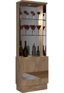 Cristaleira 2 Portas E Espelho New Vina Dj Móveis Rústico York