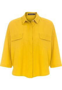 Camisa Feminina Bolsos - Amarelo