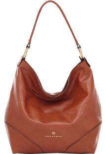 Bolsa Smart Bag Couro Parafinado - Feminino-Caramelo