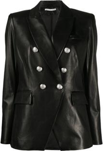 Veronica Beard Embossed Button Blazer - Marrom